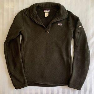 Black 1/4 zip Patagonia better sweater